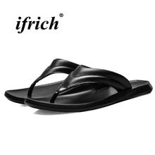 цена на Flip Flops Men Beach Black White Men Slippers Flat Anti-slip Summer Shoes for Male Rubber Bottom Lightweight Outdoor Flip Flops