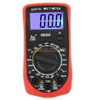 Hd Hd33c Mini Digital Multimeter Dmm Ammeter Voltmeter Ohmmeter Temperature Tester W Lcd Backlight Professional
