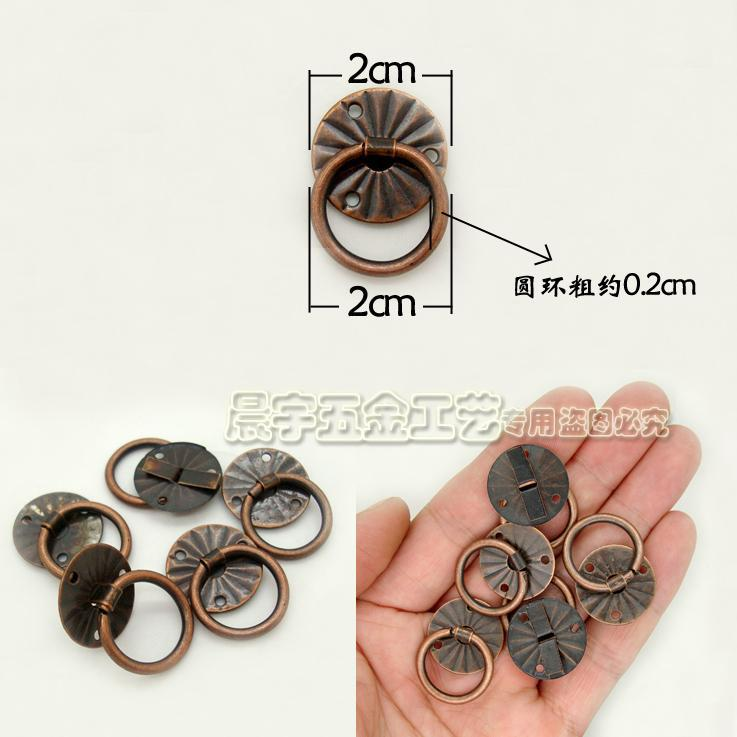 20mm 10pcs red bronze small wooden gift wine box handles hardware furniture knobs  antique drawer pulls - Popular Antique Drawer Pull-Buy Cheap Antique Drawer Pull Lots