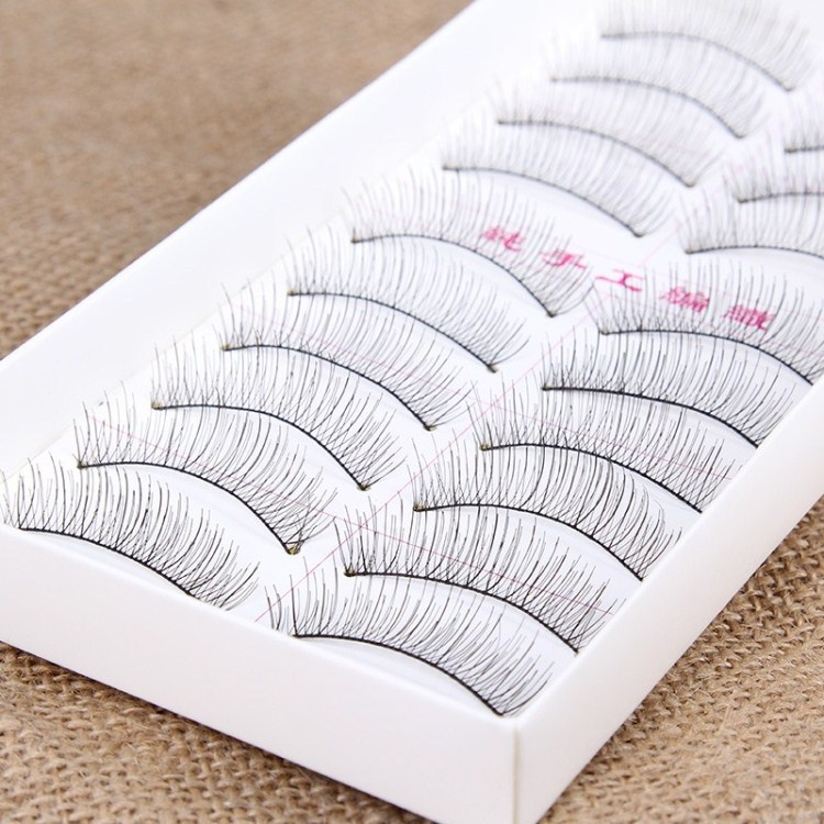 10 Pairs Natural False Eyelashes Extensions Handmade Soft Fake Full Strip Lashes Eyelash 8mm