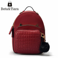 High End Backpack Women Genuine Leather Cute Backpacks Woman Back Pack Cow Leather Bags Female Student