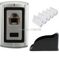 Waterproof Metal Shell Fingerprint Reader Access Control Controller 1000user + Rain Cover+10 pieces ID cards