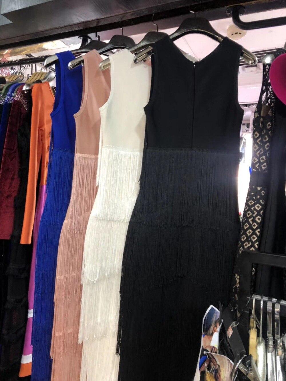 Robe Dames Cheville Noir Sexy Partie Gland De 2018 Bandage Celebrity Mode longueur Rose Bleu Moulante Club Soirée Nouvelle Blanc IAnA10zwxU