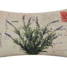 LINKWELL 50x30cm Vintage lavanda Retro con flor púrpura hoja verde Rectangular cintura funda de cojín