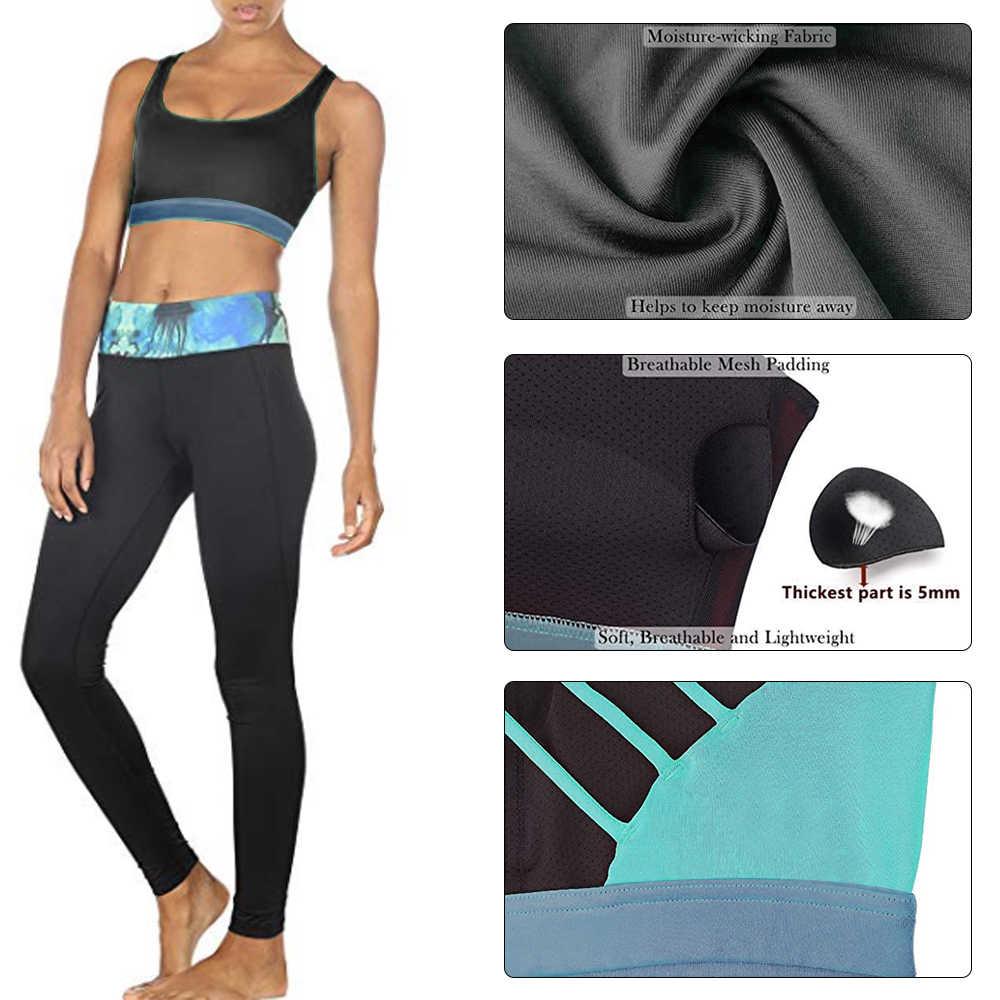 Mulheres Sexy Esporte Bra Empurrar Para Cima de Fitness Gym Workout Yoga Execução Sutiã Esportivo Cruz Top Feminino Cueca Respirável Sports Wear