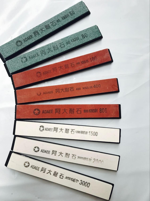 8 шт./лот/60 #80 #180 #400 #800 #1500 #3000 #2000 # заточка камня шлифовальный точильный камень для кухонного ножа система заточки