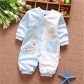 Meninas 0-12 meses roupa do bebê outfits marca esportiva de algodão Macacão traje para o infante do bebê meninos roupas longas-mangas compridas Rompers
