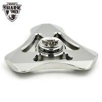 MagicShark Tri Fidget Spinner Metal Hand Spinner High Quality Fidget Hand Spinner Toys For Anxiety Stress