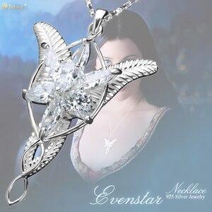 Image 2 - Princesa arwen evenstar pingente colares para mulher arwen cristal colar hobbit s925 sliver casamento jóias presente