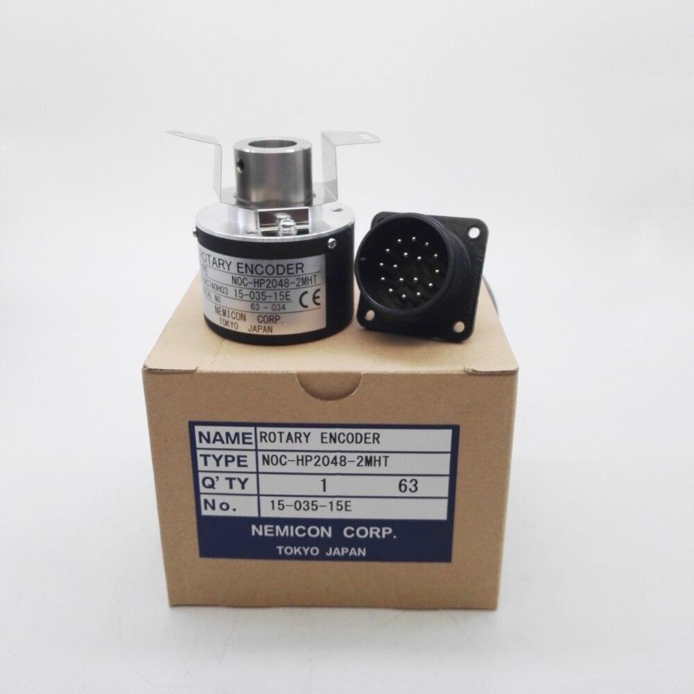 New Original NOC HP2048 2MHT 15 035 15E NEMICON Rotary Encoder 2048 Pulse Hollow Shaft Hole