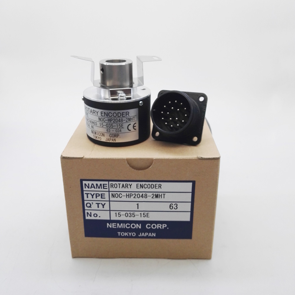New Original  NOC HP2048 2MHT 15 035 15E NEMICON Rotary Encoder 2048 Pulse Hollow Shaft Hole 15mm Encoder-in Level Measuring Instruments from Tools    1