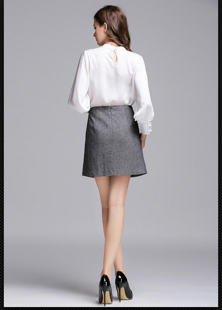 ew arrival 2015 Women's fashion woolen A line Skirt High waisted ...