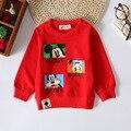 Outono Inverno Roupas de Bebê Menina T-shirt Dos Meninos Hoodies & Camisolas de Manga Longa Encabeça a Roupa Dos Miúdos Da Criança Do Bebê Roupas de Algodão