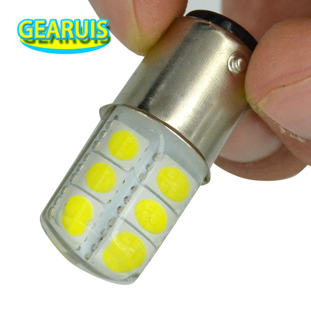 100pcs P21 5W S25 1157 Silicone BAY15D 12SMD 5050 LED 2W Cold White 8000K Auto Car