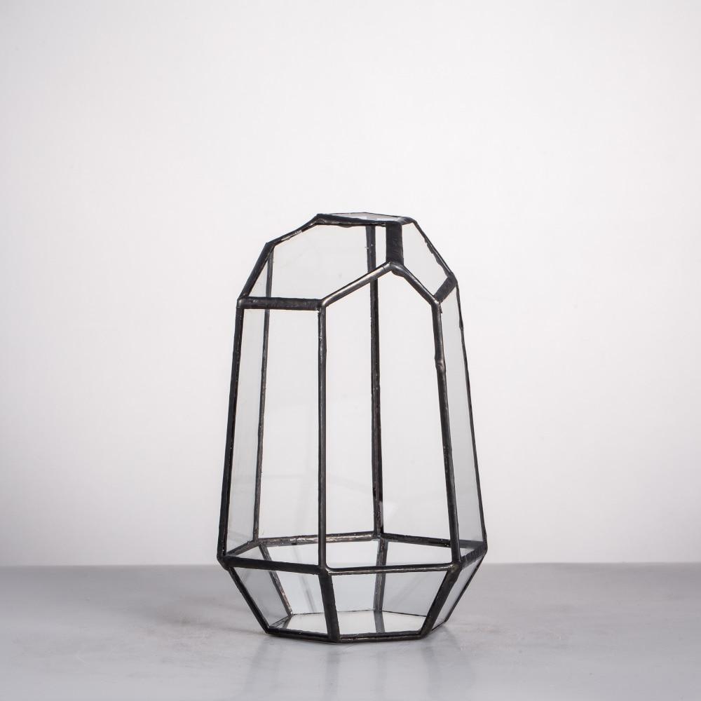 Modern Onregelmatig Glas Geometrisch Terrarium Box Tafelblad Vetplant - Huisdecoratie - Foto 5