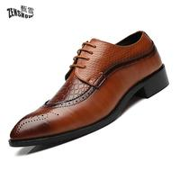Dress Shoes Men Plus Size 37 48 Lace Up Old Skool Waterproof Derby Shoes Fashion Spring