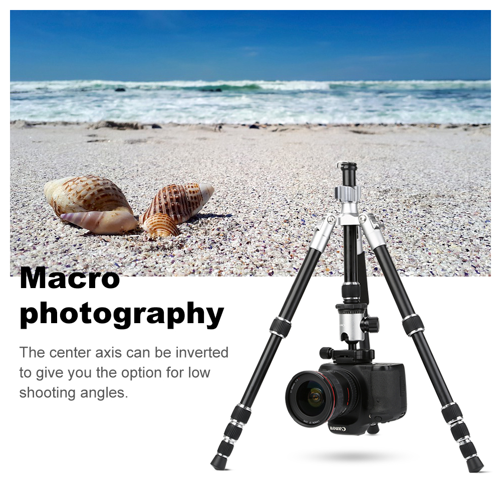 K & F CONCEPT TM2235II 5 Secties Draagbare Lichtgewicht Camera Statieven Professionele Compact Legering DSLR SLR Statief - 5