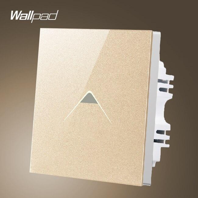 Casa inteligente Wallpad Interruptor 110-250 V REINO UNIDO Oro Cristal 1 gang 2