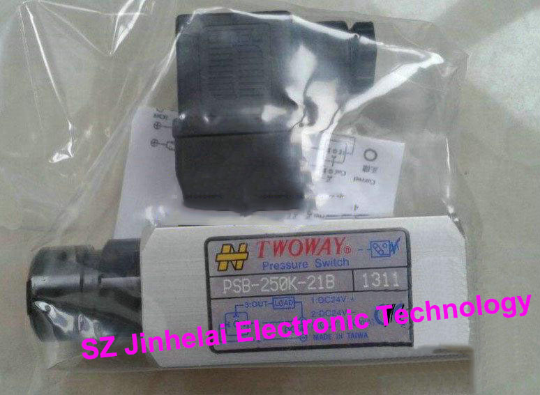 New and original PSB-250K-21B  TWOWAY Pressure switch,  Air pressure relay switch  40-250 bar  Made in Taiwan new japanese original authentic pressure switch ise3 01 21