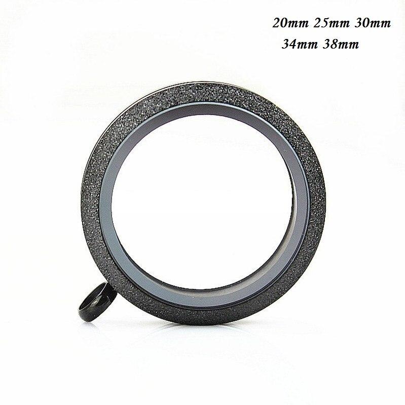 Stainless Steel Waterproof Locket Black scrub Floating Locket Pendant Floating Charm Memory Locket for DIY Necklace in Pendants from Jewelry Accessories