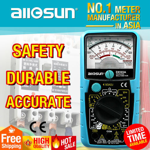 Peachy All Sun Em365A Portable 2 Fuses Protection Analog Meter 0 Adjuster Wiring Cloud Hisonuggs Outletorg