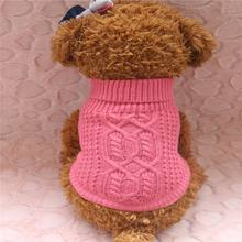 2018 new autumn and winter pet twist dog sweater knit turtleneck pullover cute kitten puppy warm(China)