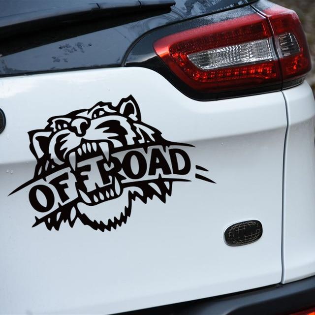 Fashion off road tiger design car sticker for jeep honda cr v toyota