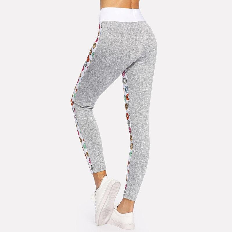 97a16ce348 NORMOV Women Cute Donut Printed Leggings Fitness Workout leggings Fashion  Sportswear Ptint Leggins Jeggings Pants Women S XL-in Leggings from Women's  ...