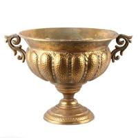 Large Vintage Metal Iron Planter Flower Arrangement Pot Chalice Desktop Rococo Rome Style Wedding Centerpiece Decoration Vase