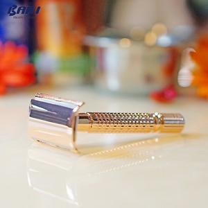 Image 5 - BAILI Rose Gold mannen Klassieke Handmatige Veiligheid Scheren Scheermes Scheerapparaat Houder Kapper Double Edge + 11 Blades + case BD173 + BP001B