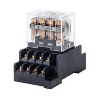 HH64P LY4NJ Electromagnetic Relays Socket Base AC 220V 110V DC 24V 12V 10A Power Relay Switch 14 Pin 4PDT Coil Silver Contacts