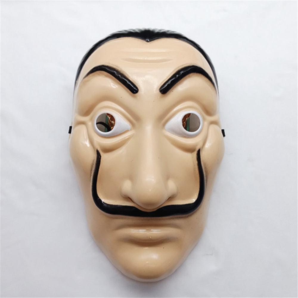 new paper house la casa de papel mask salvador plastic cosplay mask halloween realistic adult