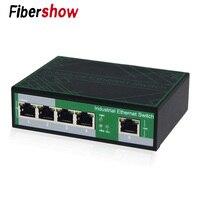 Промышленный сенсорный 5 Порты коммутатор для интернет-сети 10/100 м сигнал усиления DIN Rail Тип