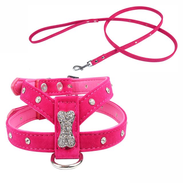 Rhinestone Charm Dog Harness