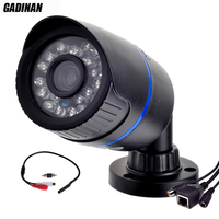 Gadinan ONVIF Micro Wired Audio IP Camera P2P CCTV Outdoor Bullet Camera External Microphone 720P 960P