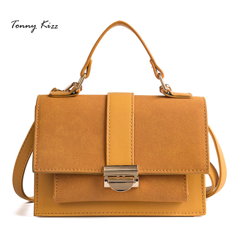 Tonny Kizz vintage luxury handbags women bags designer matte leather shoulder fashion crossbody girls bolsa feminina
