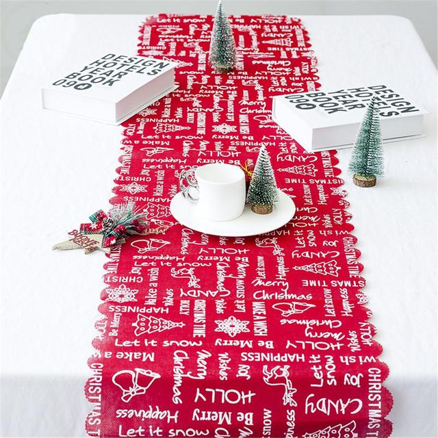 christmas table decorations tablecloth red white christmas tree skirt rectangular party table covers christmas ornaments