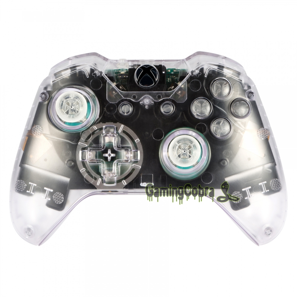 Clear Full Case Shell Buttons  For Xbox One Controller Repair #NXOM14