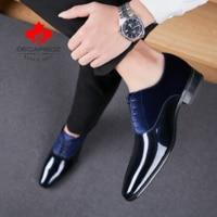 High Quality Men Dress Shoes Leather, DECARSDZ Men Shoes ,Fashion Wedding Shoes,Comfortable Formal Shoes Men