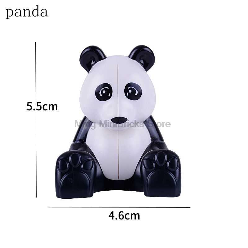 Legoing Duplo zwierząt Zoo tygrys panda jeleń słoń pingwin DIY klocki duże cząsteczki cegła zabawka dziecięca kompatybilny Legoings
