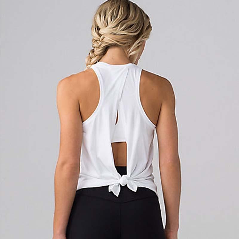 89dfa03974 Women Yoga Tank Tops Quick-dry Exercise Women's Workout Gym Clothes Sports T -Shirts Fitness Top women Shirt sportswear