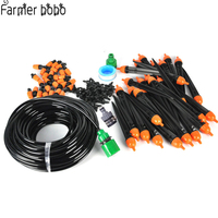25M DIY Micro Drip Irrigation System Plant Self Automatic Watering Timer Garden Hose Kits Dripping Sprinklers