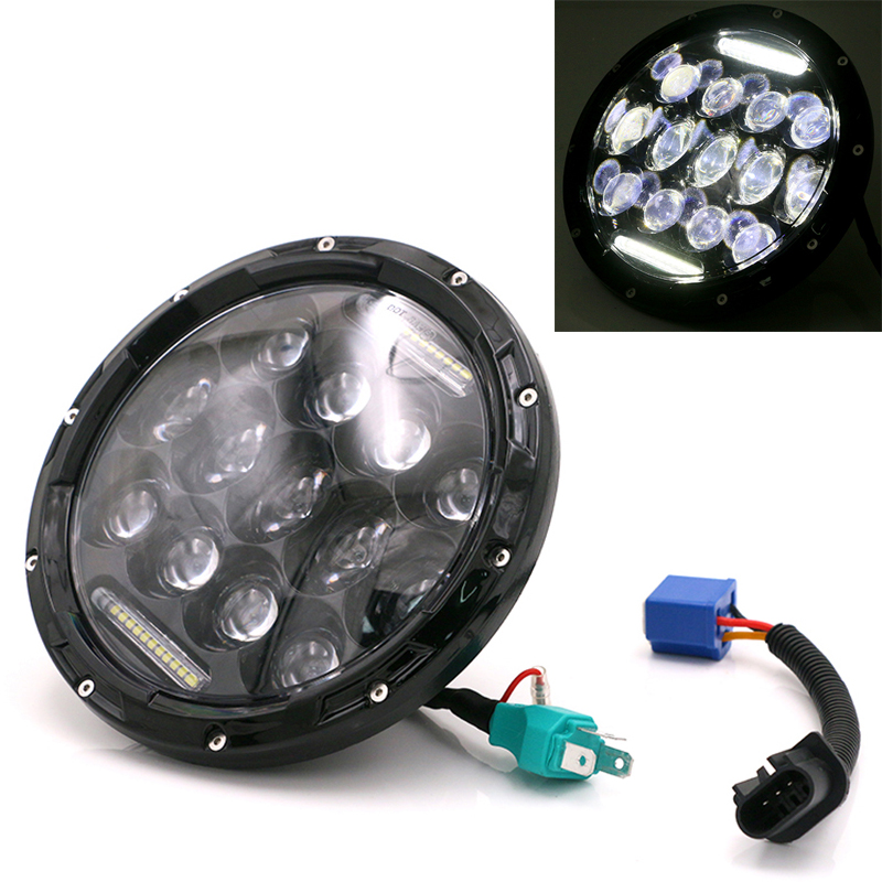 Universal Motorcycle LED Headlight Scooter 60W Refit Headlights Motorbike 7 Inch Head Light for Jeep Wrangler Hummer Harley