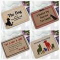 Входные резиновые коврики для дверей милые забавные мультяшные собаки коврики с изображением кошек детские спальные прикроватные подушеч...
