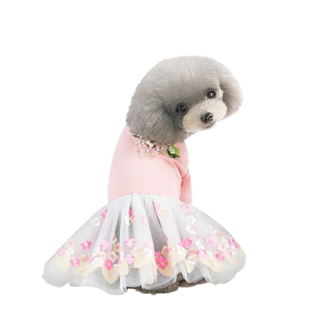 petalk Dog Dress Spring Autumn Outfit Small Dogs Pet Clothing Puppy Dog Skirt Princess