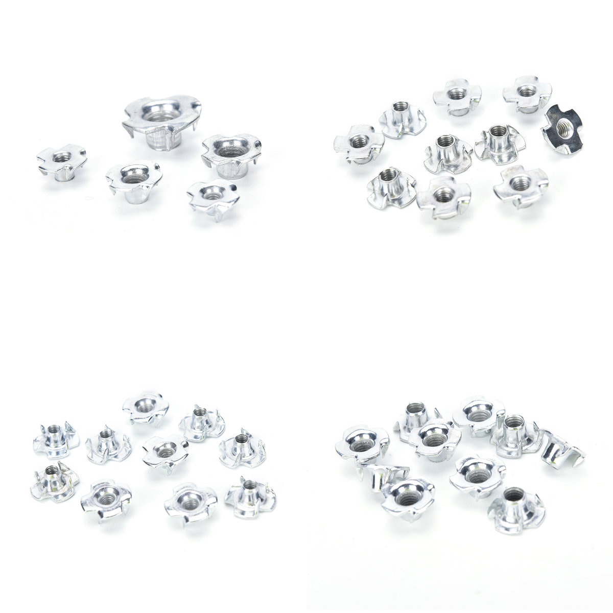 10PCS/lot Top Quality Zinc M4 M5 M6 M8 M10 Threaded Insert Nut Furniture Nuts For Wood Hex Socket Screw Flanged Barbed