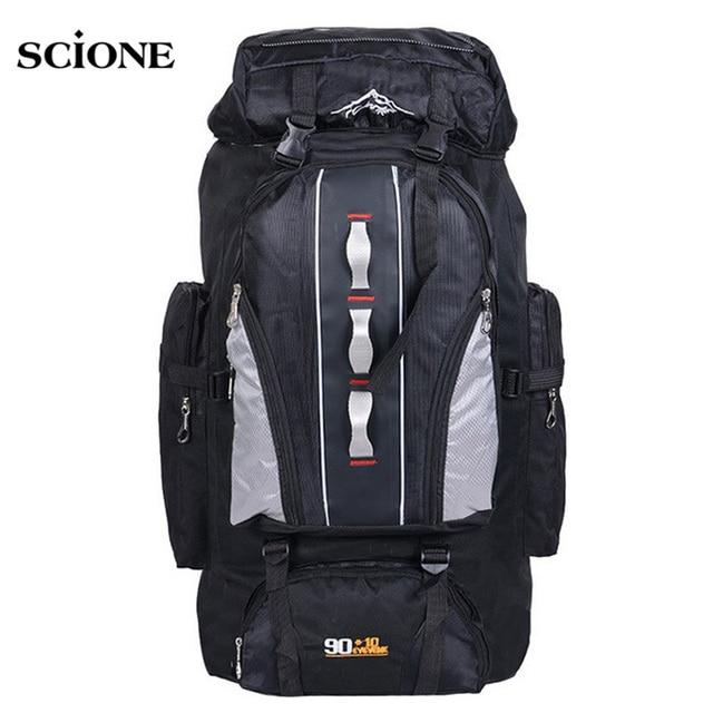 Large Knapsack 100L Outdoors Sports Bags Waterproof Nylon Backpack Women Men Hiking Camping Climbing Fishing Rucksack Bag XA769A