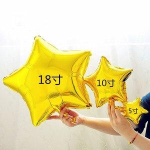 Image 4 - 20 шт/30 шт/50 шт 5 дюймов маленький милый воздушный шар из фольги в форме сердца со звездой свадебное украшение день Рождения Вечеринка детский душ воздушный шар украшение игрушка