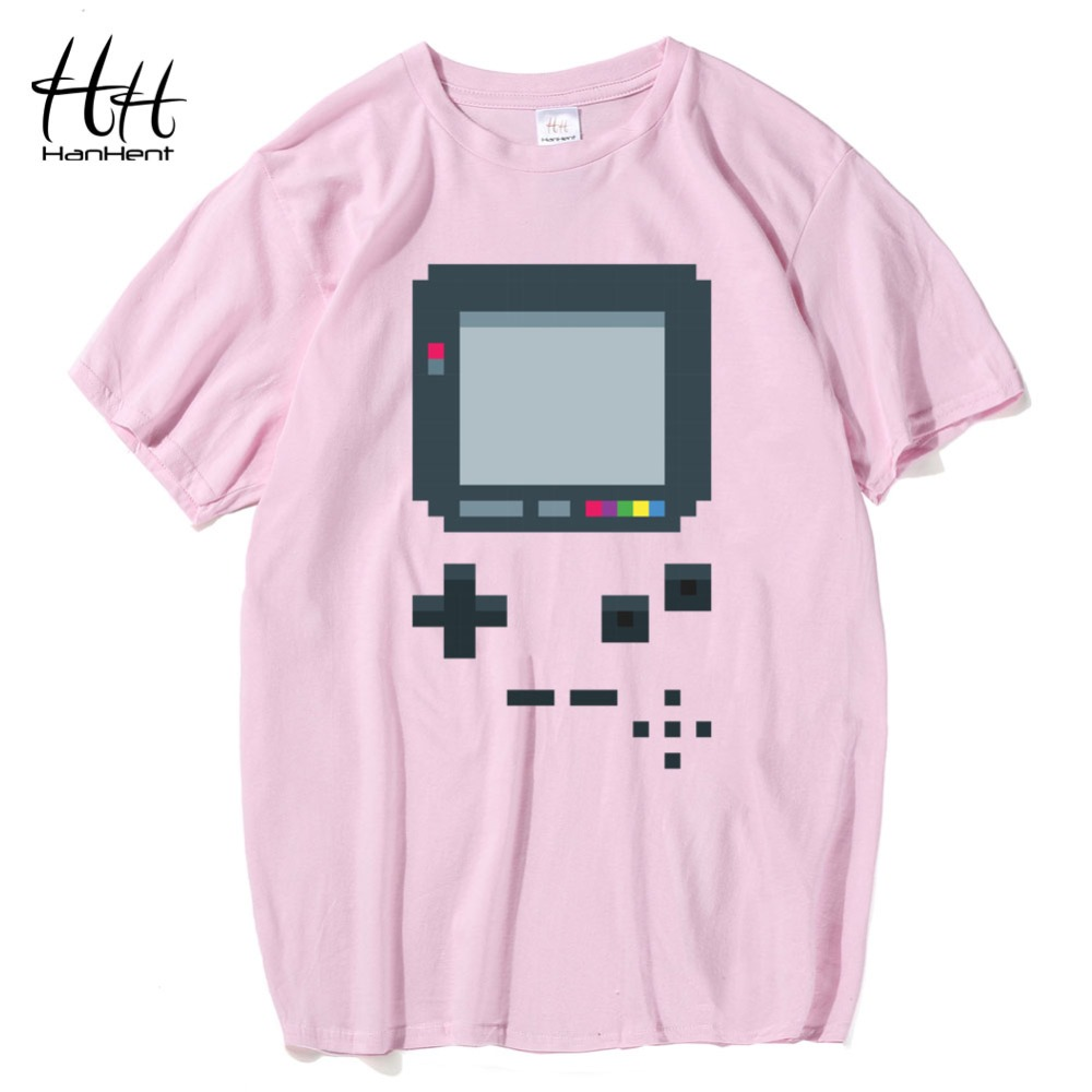 ... HanHent Old Game Consoles T-shirts Man s Creative Cotton Summer Tee  shirts 2017 Fashion Hip ... 7c849a06bd75