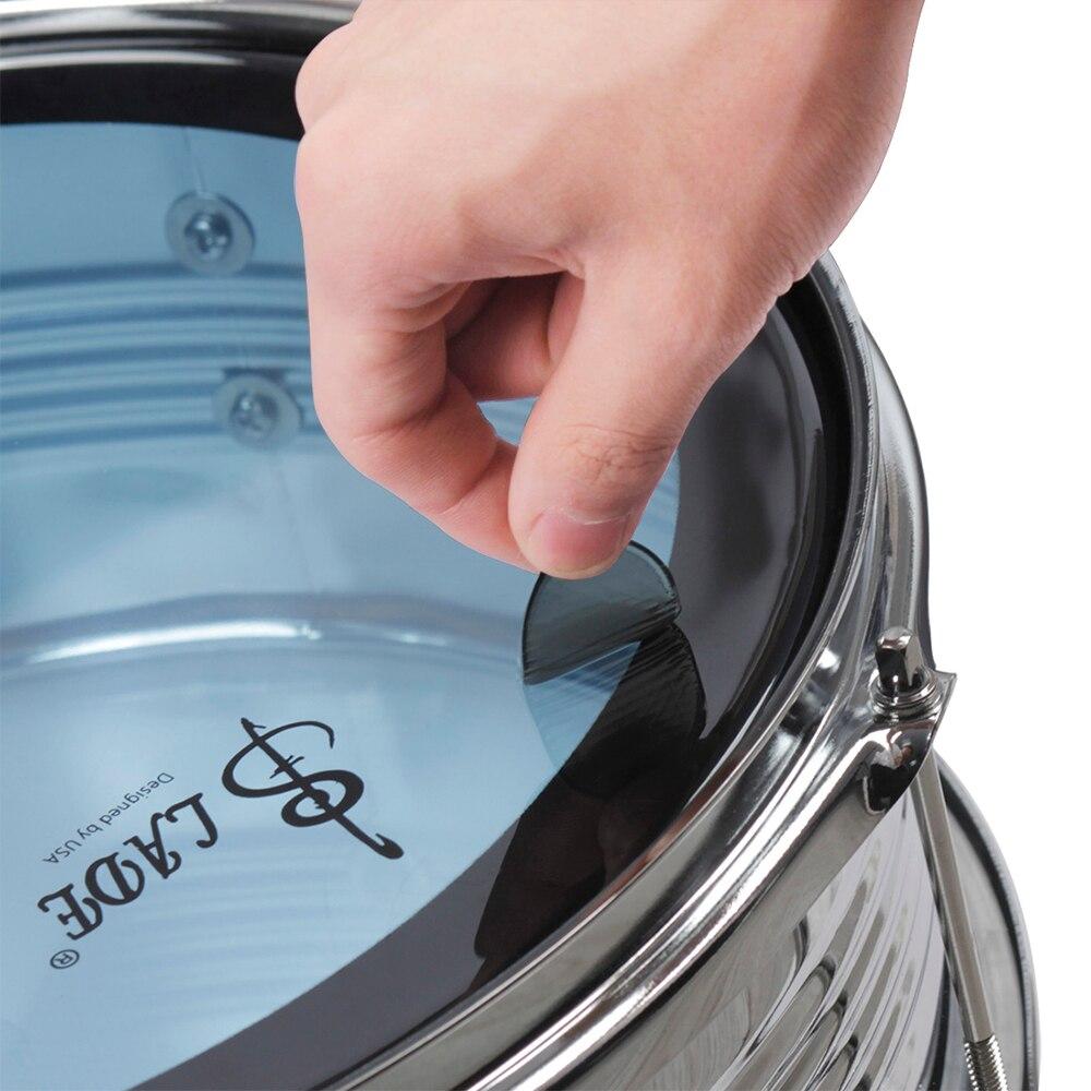 6pcs set snare drum mute pad drum damper gel pads snare tom drum muffler mute transparent. Black Bedroom Furniture Sets. Home Design Ideas